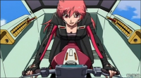 Aoi in the cockpit