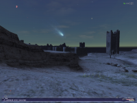 A strange comet in the sky