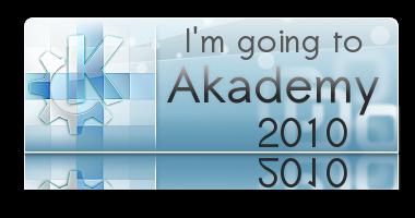 I'm going to Akademy 2010 image